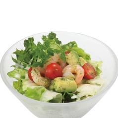 料理メニュー写真アボ海老サラダ