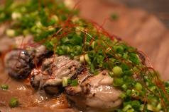 料理メニュー写真牡蠣の朴葉焼き 4粒