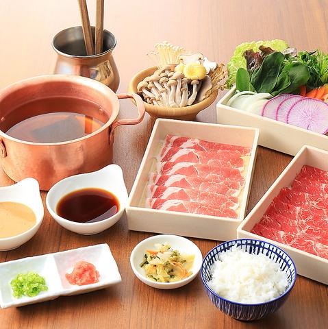 しゃぶしゃぶ/すき焼き<国産牛&牛タン>寿司・ドリンク・デザート90分食べ放題コース4580円(税抜)
