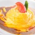 料理メニュー写真オムライス+前菜ビュッフェ+ドリンクバー付き
