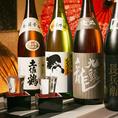 全国各地豊富な日本酒を取り揃えてます☆
