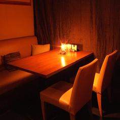 おこもり感のあるテーブル席