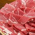 厳選した食材の数々。美味しいお肉をぬくもりのある個室でごゆっくりお楽しみください。