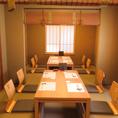 個室は10~12名様にて半貸切可能。