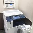 プリントアウトは、全ブースより店内のカラーコピー機で印刷可能です。(モノクロ10円・カラー20円)
