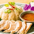料理メニュー写真蒸し鶏ご飯