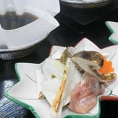 【旬の御料理】 松茸と地鶏のすき焼き 笹掻き牛蒡 焼き豆腐 長葱 人参 京生麩 地鶏卵