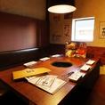 4名以上でのご宴会や打ち上げに★程良い仕切りの半個室で仲間内での焼き肉に最適空間!!