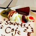 料理メニュー写真チョコケーキセット