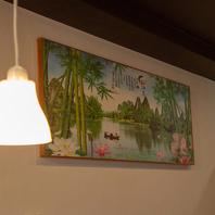 壁に中国絵画
