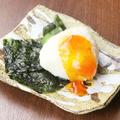 料理メニュー写真漬け卵のおにぎり