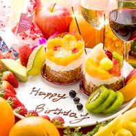 誕生日特典!特製ケーキorシャンパンプレゼント♪