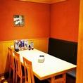 ■【子連れにも安心】最大6名様でご利用可能なテーブル個室をご用意いたしました!こちらの個室は壁と扉がございますので完全個室として仕切りができます。お子様連れのお客様も安心してご利用いただけますので、お気軽にご相談くださいませ。