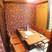1階・テーブル個室が2席(4名席1卓/6名席1卓)