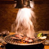 焼肉を楽しむならやっぱり炭火焼肉♪全席炭火対応◎