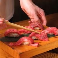 おすすめ!特上肉の寿司☆たくさんの種類をご用意♪