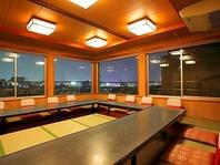 神戸の夜景を一望できる【最大90名までの個室】利用可能
