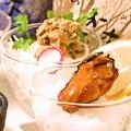 料理メニュー写真牡蠣の珍味三点盛り