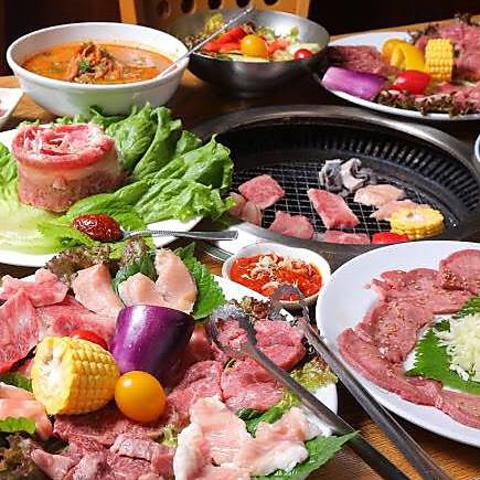 10種類のお肉とジャンボ(三角カルビ)を堪能!≪全11品≫2H【飲み放題付き】松コース6500円税込