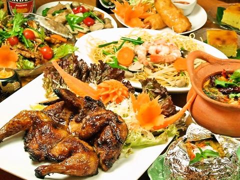 南国の陽気でお洒落な雰囲気と、丁寧に作られたタイ料理がリーズナブルに楽しめます☆