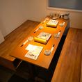 6名様が使えるテーブル席もご用意しております☆