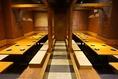 奥のテーブル席の貸切は32名様~最大44名様までご予約可能でございます!テーブル席なので靴のままご利用いただけます♪もちろん半分だけのご利用も大歓迎☆