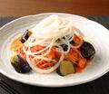 料理メニュー写真モダントマトパスタ(マグロ、茄子、オニオン)