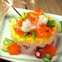 SNS映え!?バースデー寿司ケーキ