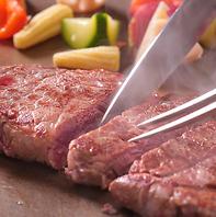 土日祝ディナー限定鉄板焼ステーキ食放
