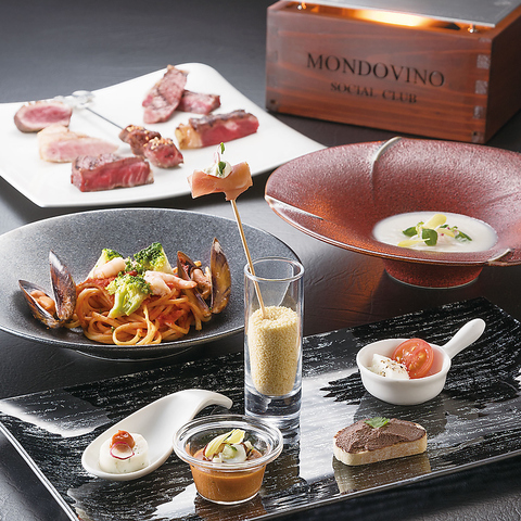 ご家族やご友人と共にカジュアルなイタリアン、豪華なグリルステーキが楽しめるお店