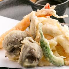 海老と野菜の天ぷら盛り合わせ