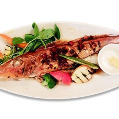 本日の特選丸ごと一匹を使った天然鮮魚と季節野菜のグリル