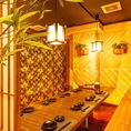 木目を基調とした落ち着きある上品な空間◎照明も明るすぎずゆったりとくつろげるお部屋になっております。大事な接待や会食で大変人気のお席となっております♪