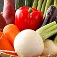 太陽の恵みをいっぱいに浴びて育った安心安全な野菜を使用。旬ものは栄養も抜群で甘みも十分!シャキシャキとした小気味良い食感と鮮やかな彩りが目も舌も楽しませてくれます。四季の移り変わりを感じさせる素材ひとつひとつの豊かな旨味をご堪能ください。