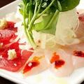 料理メニュー写真産直鮮魚のカルパッチョ~4種の魚と4種のソース~