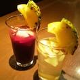 【自家製サングリア】女性に大人気のサングリアは赤・白の2種類!! 藤が丘ではココだけ【フューガルデン生ビール】が楽しめますよ♪ほかにも、リンゴから造るお酒【ハードシードル】も人気のドリンク♪