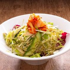 キムチと水菜オニオンサラダ