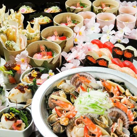 おまかせ料理と飲み放題セット  3700円(税込)
