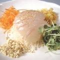 料理メニュー写真活け真鯛のお刺し身 華中華スタイル