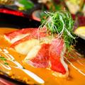 料理メニュー写真金目鯛の雲丹ソース焼き