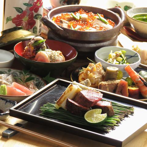 【7000円コース/飲み放題付】当店の贅沢な堪能コース*お料理5品+90分飲み放題
