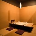 接待や顔合わせ、記念日デートにおすすめな個室席もご用意しております。