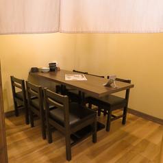 人気の半個室テーブル席♪周りを気にせずお楽しみいただけます!