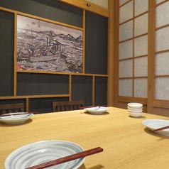 暖簾をくぐって和の雰囲気を味わう事が出来る半個室の人気のお席です!