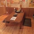 4名様のお座敷席です。※テーブルを連結させれば大人数のご宴会も可能です。
