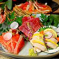 料理メニュー写真厳選鮮魚のお造り 五点造り