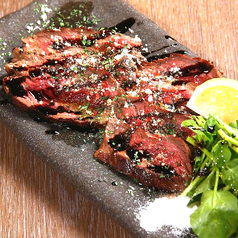 牛赤身肉の温製カルパッチョ