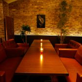 個室ソファーは大人気の為、必ずご予約を