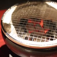 七輪で本格炭火焼肉を