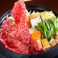 県内産黒毛和牛を使用したすき焼きは絶品!